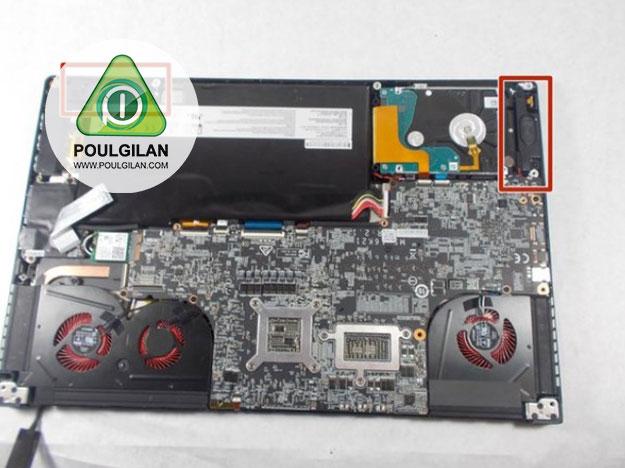 تعویض اسپیکر های MSI GS63VR 7RF Stealth Pro