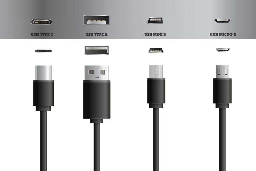 انواع پورت و کابل USB
